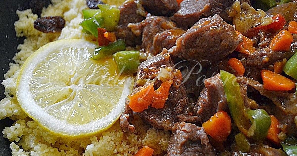 Saladosypostres carne carrillada de cerdo con cous cous - Cordero estilo marroqui ...
