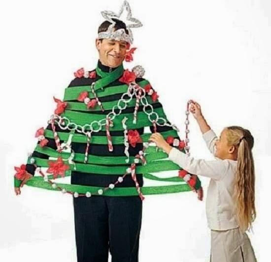 Human Christmas Tree Decorating Game