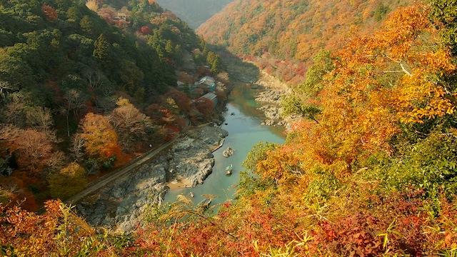 Arashiyama saat musim gugur.