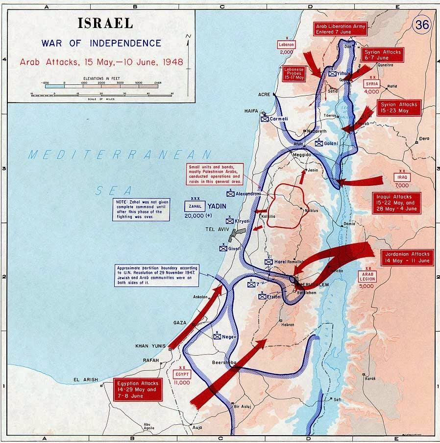 History Of Israel Onward InterestingBibleFacts - Map of egypt israel jordan