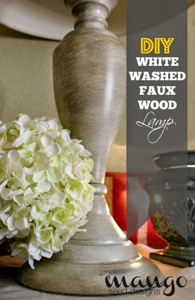 Three Mango Seeds Diy White Washed Faux Wood Lamp Base