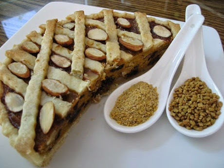bánh tart với hạt methi