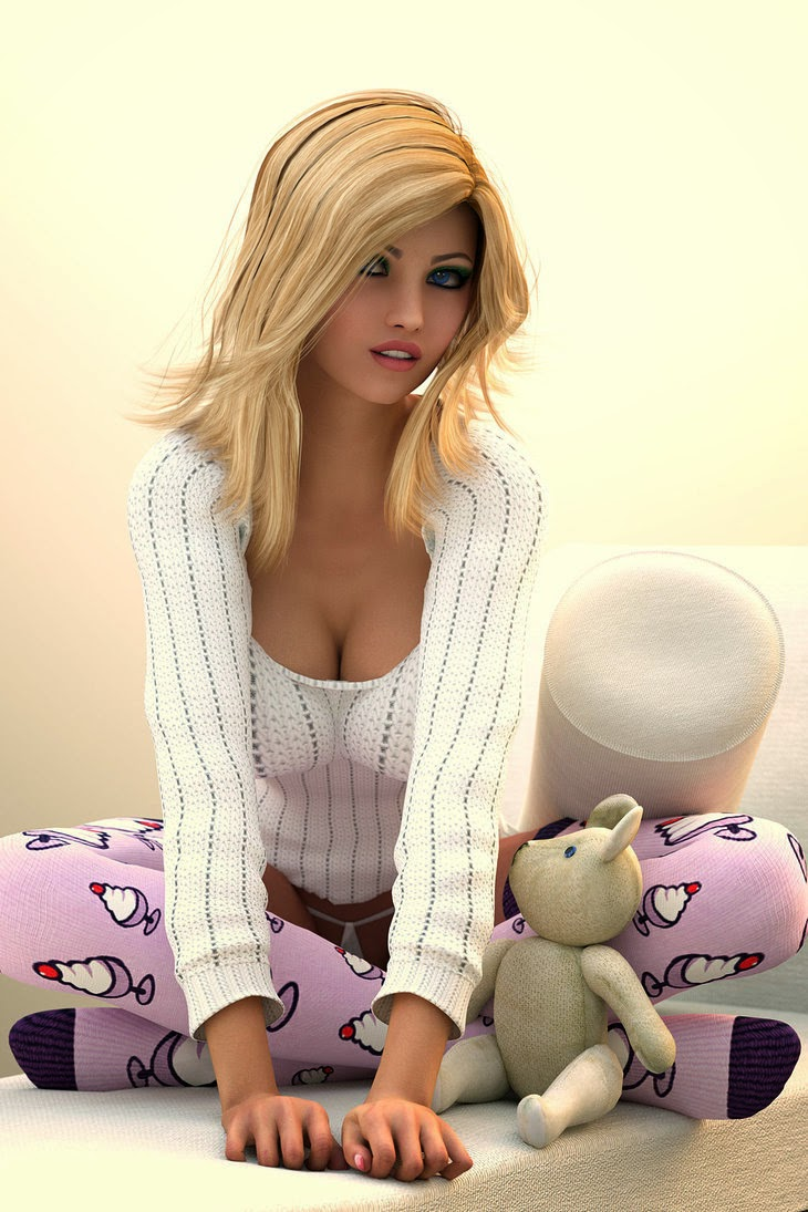 Plus Cuddles Se il vous plaît Art 3D par radi0man