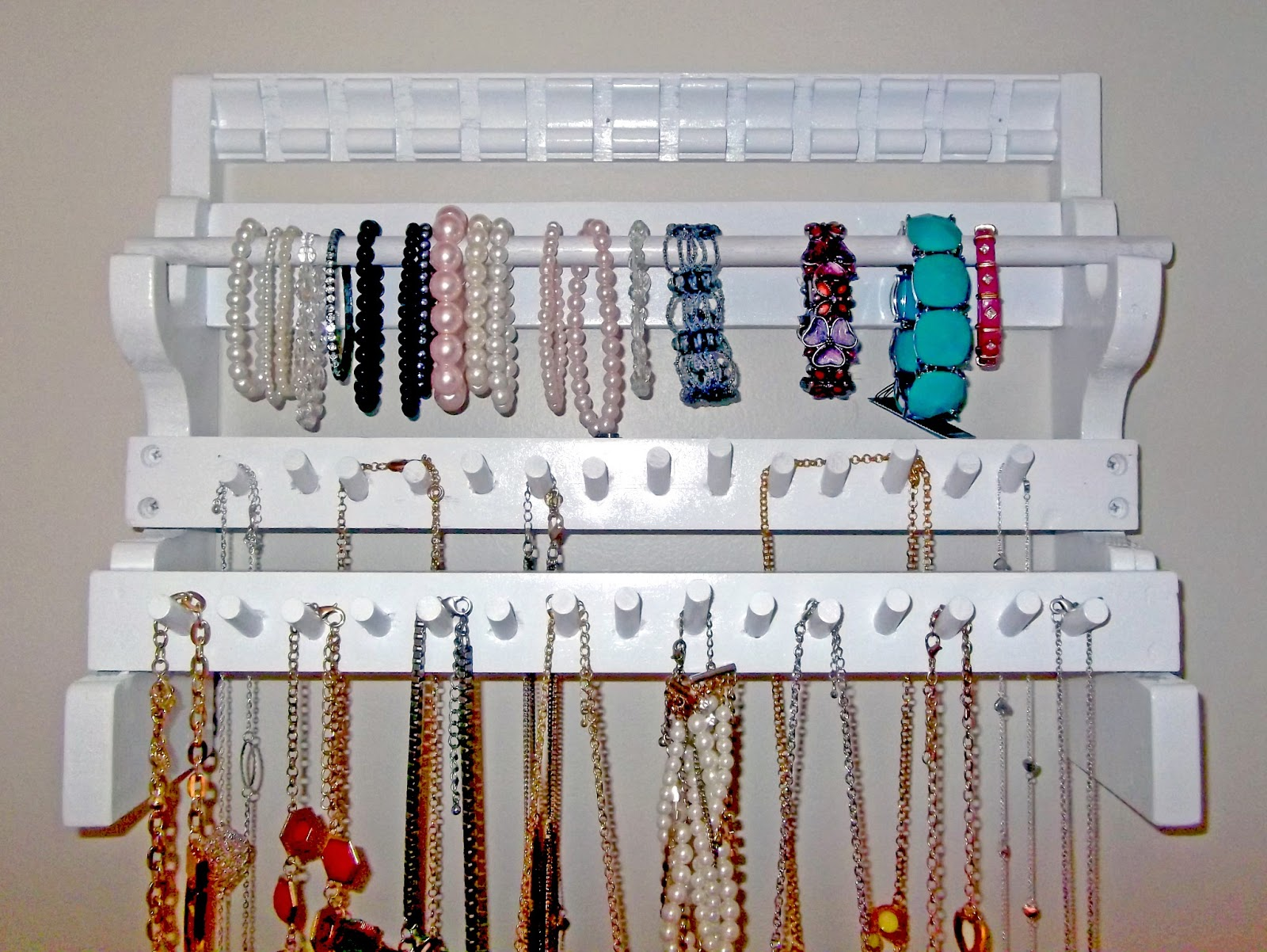 Hanging Necklace Organizer Dean Arms Weapons Of Nerdy Ness Diy Jewelry Holder For About 10
