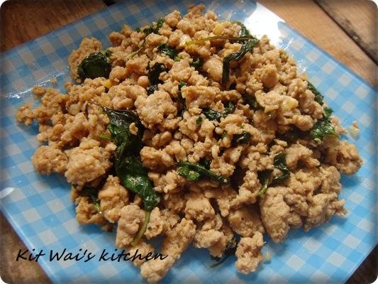 ... kitchen : 泰式鸡肉碎 ~ Thai basil chicken ( Gai Pad Krapow