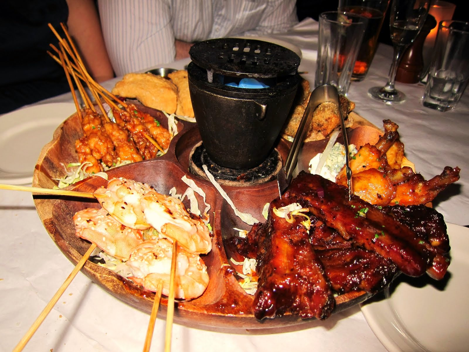 in a vinegar ketchup based sauce 8 pu pu platter