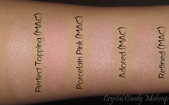 Mineralize Skinfinish Adored de MAC (Collection Tropical Taboo) - Review - Swatch - Porcelain Pink - Perfect Topping - Refined