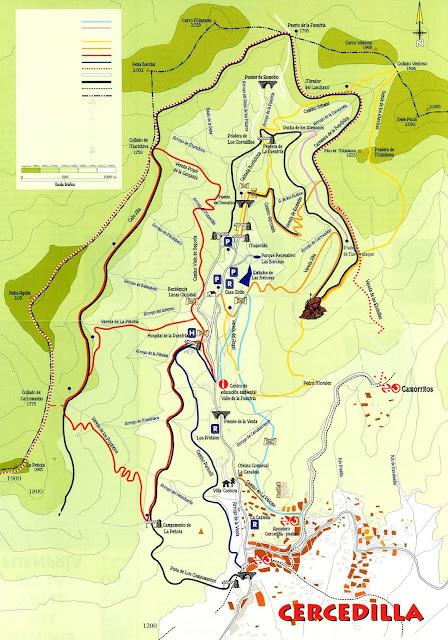 Mapa rutas Cercedilla