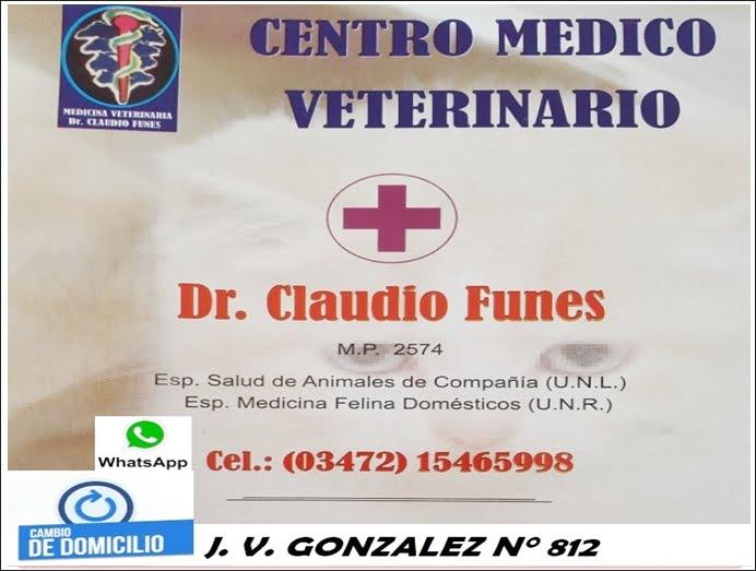 ESPACIO PUBLICITARIO: CENTRO MEDICO VETERINARIO DR. CLAUDIO FUNES