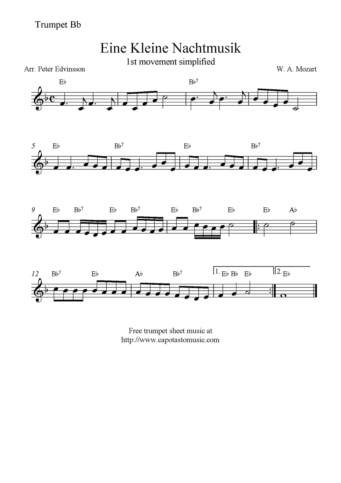 It's just a picture of Magic Free Printable Sheet Music for Trumpet