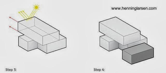 Dibujo técnico muestra volúmenes del proyecto de casa adaptable