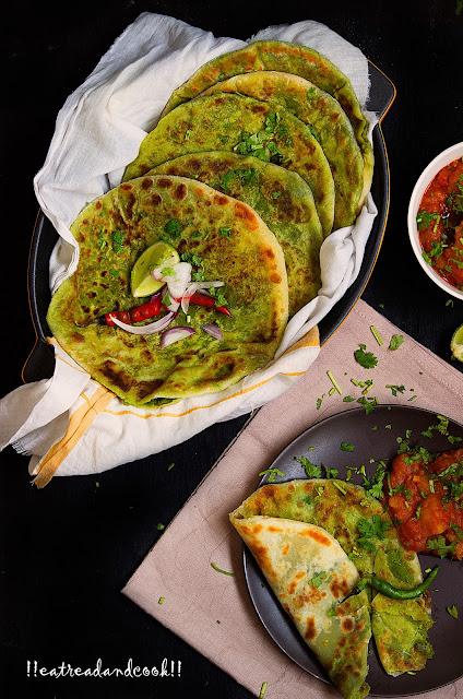 how to make matar paratha recipe