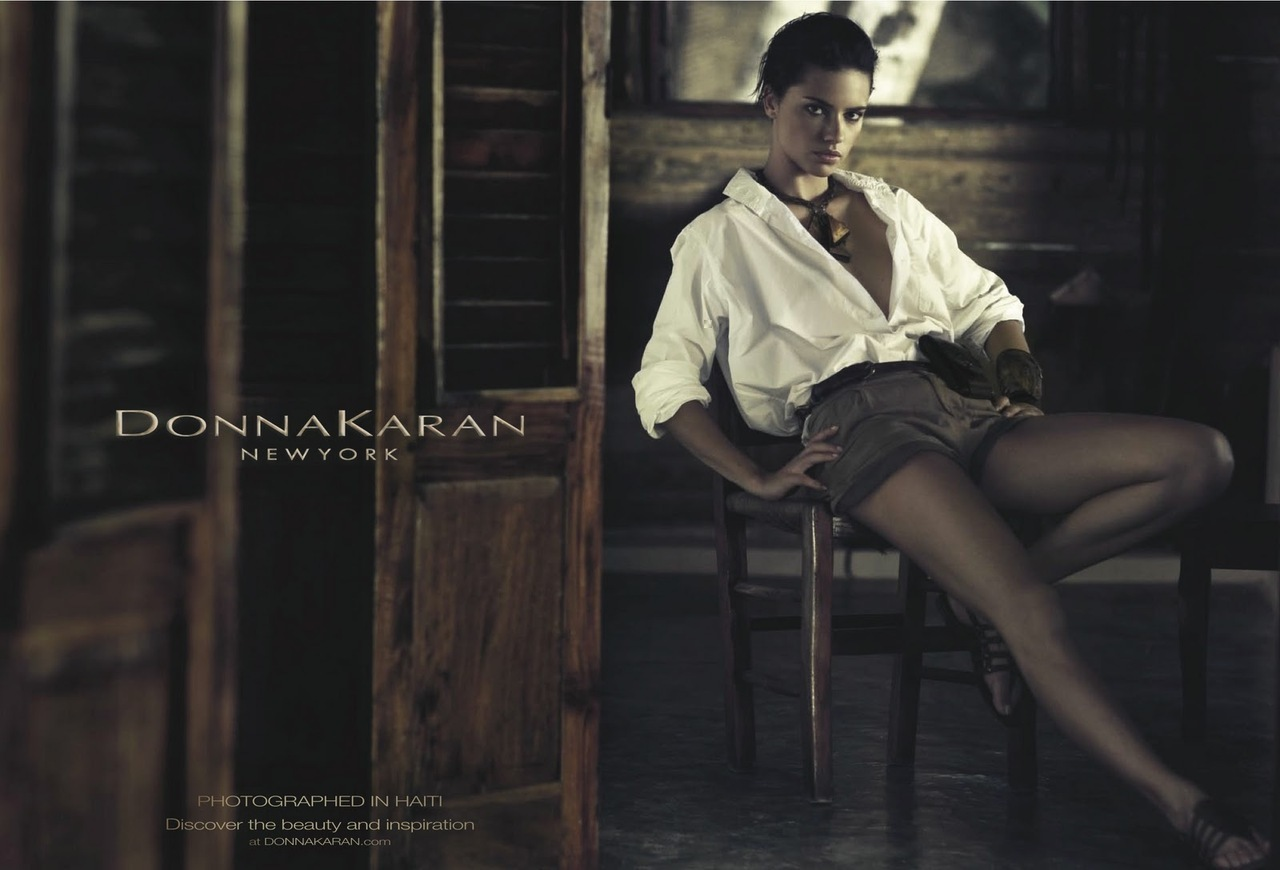 Adriana Lima Hairstyle on Donna Karan Spring 2012 Campaign 3