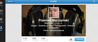 Follower of Dominik Ras - Background image effect in Twitter mobile app