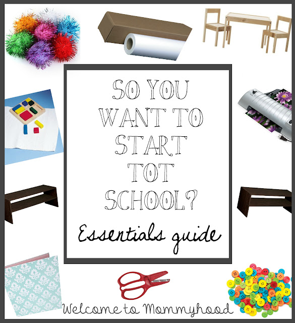 Welcome to Mommyhood: Montessori tot school or preschool supplies guide! A list of the basic essentials you will need to make your tot school or homeschool preschool a success! #montessori, #preschool, #totschool