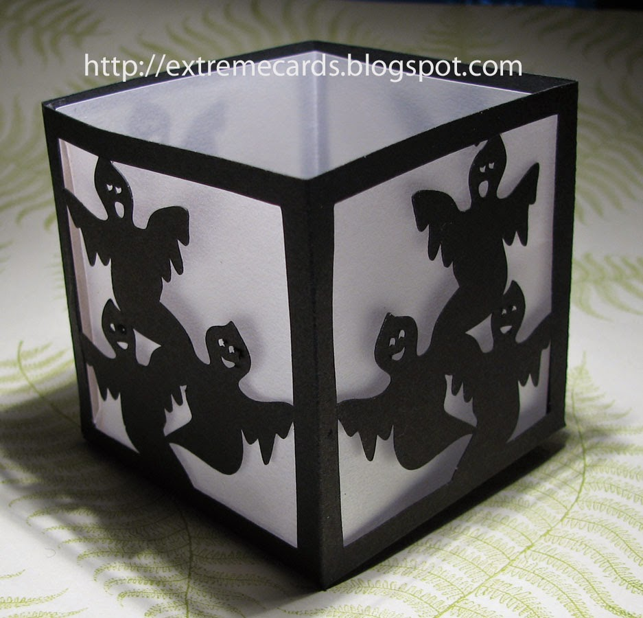 votice tea light ghost lantern