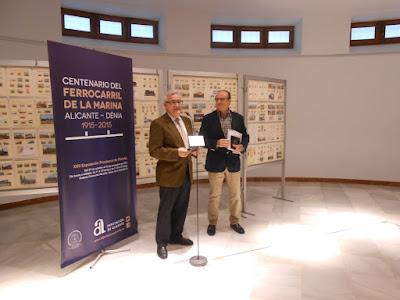 Inauguración de la Exposición Filatélica Ferrocarril de la Marina Alicante