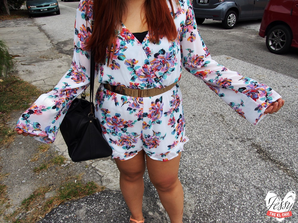 OOTD: Floral Romper (Cotton On)