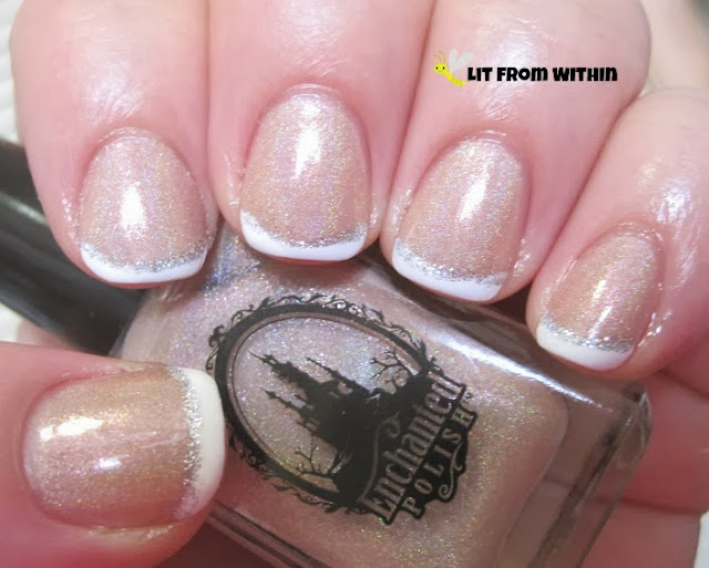 Enchanted Polish In The Nude, a soft pinkish-nude holo