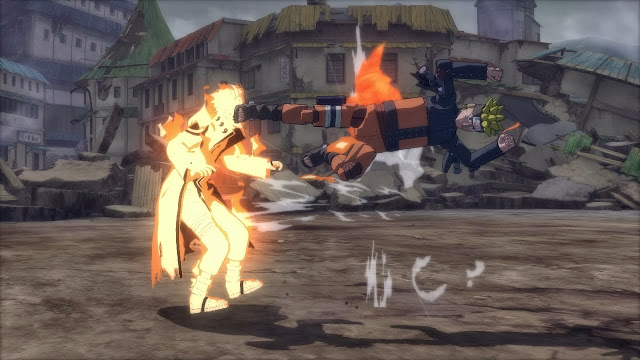 Biju Mode Naruto vs Robot Naruto