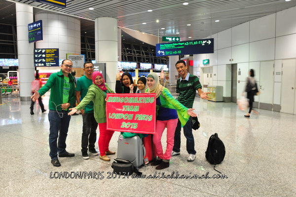 Adibah Karimah and team at KLIA going to London for free