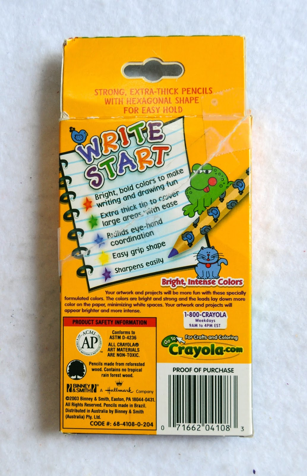 2003 8 write start colored pencils - Crayola Write Start Colored Pencils