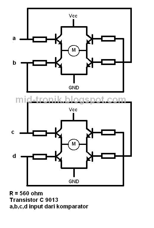 elektronika dasar  robot line follower sederhana