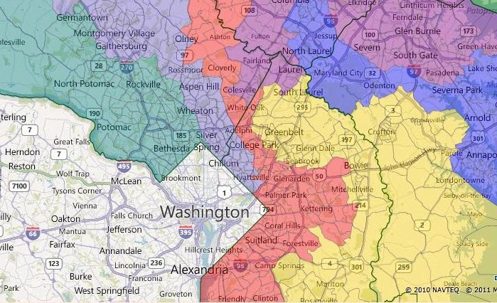Races and Redistricting Maryland 701
