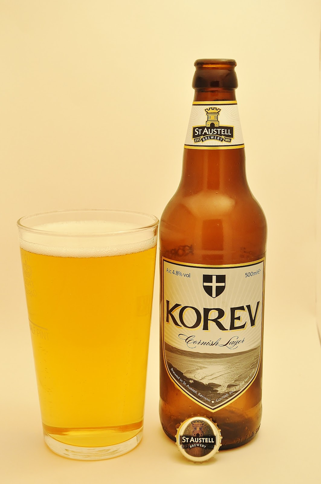 Blood, Stout and Tears.: St. Austell Korev Cornish Lager