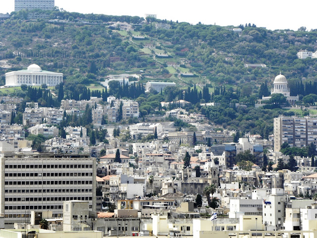 Haifa city and Bahai Temple