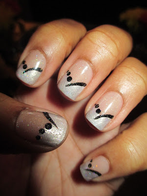 Julep Isla, Frenchie, French Tip, Curtain, nail art, nail design, mani