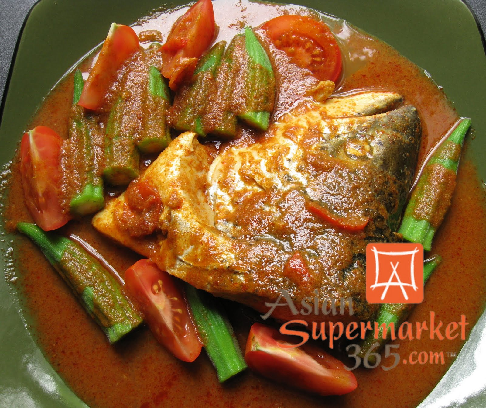 ... .com: Assam Curry Fish Head with Okra (Lady's Fingers