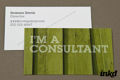 calling card of a consultant