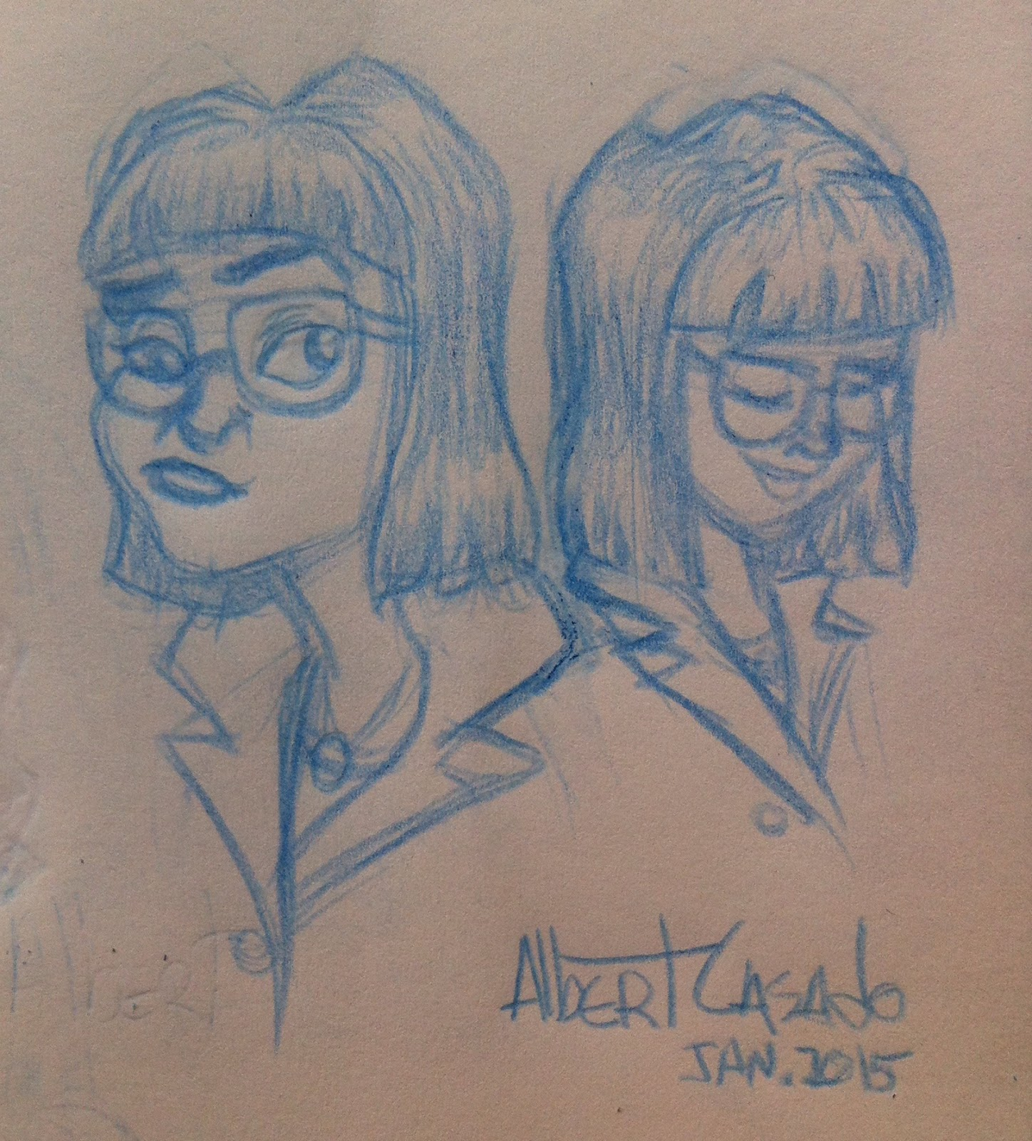 'Susan sketches' - Albert Casado