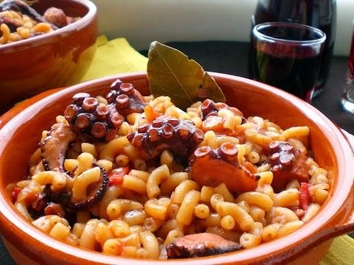 Octopus with macaroni, Mediterranean Diet, The Cretan Diet
