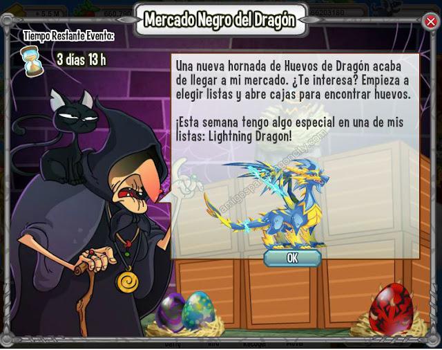 imagen del dragon lightning en el mercado negro del dragon