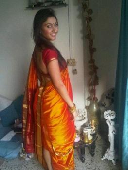 , Manjari Phadnis Marathi Actress Saree Pics