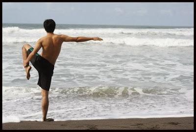 Yoga on the beach 1