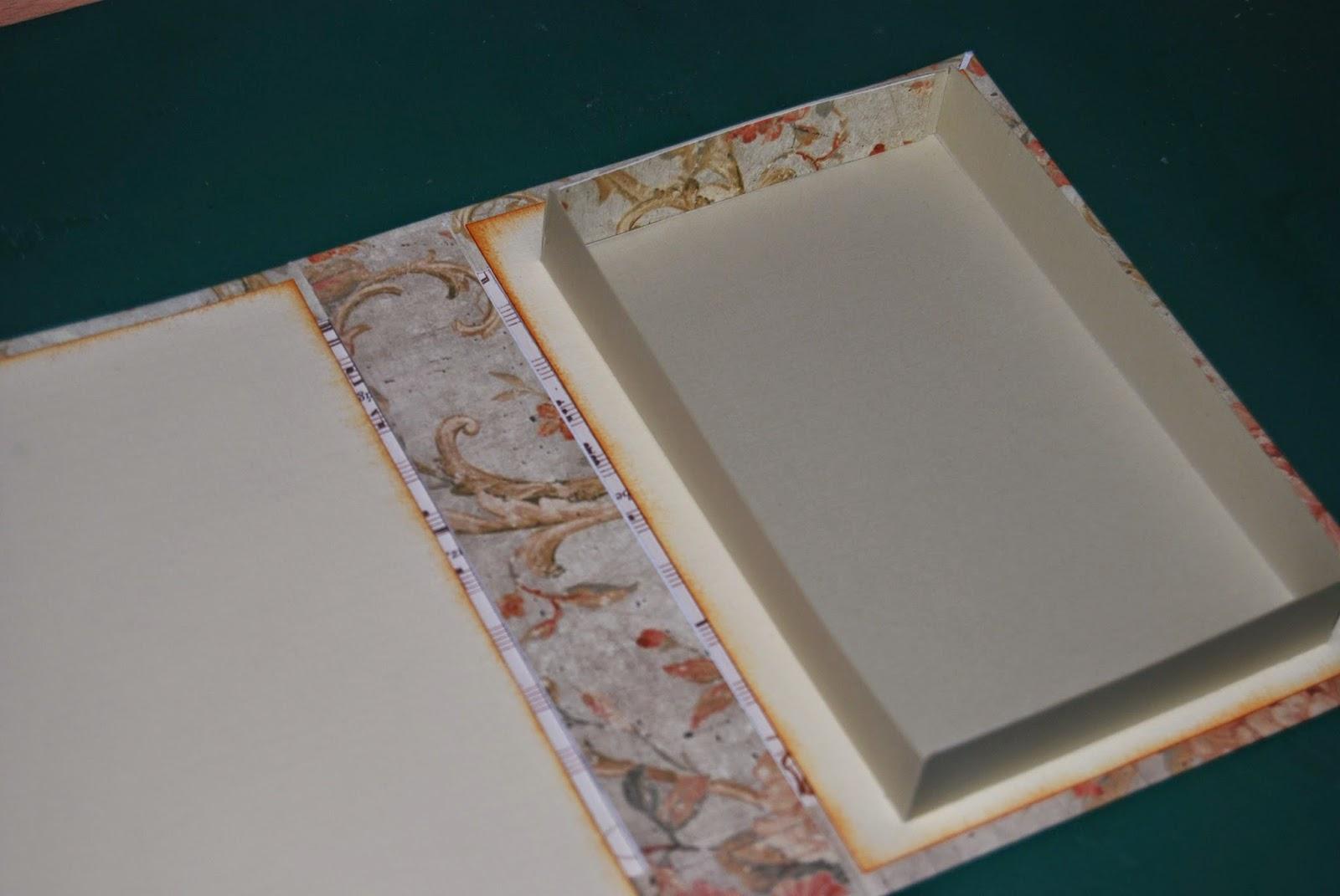 Tutorial caja libro locas por el scrap - Como hacer un libro antiguo ...
