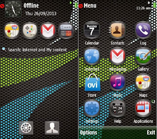Ascend Carbonara theme on Nokia 5800 XpressMusic