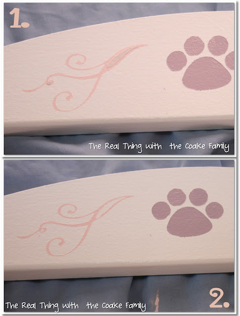 Great idea for an American Girl Doll craft to turn a plain IKEA doll bed into a cute stenciled American Girl Doll bed. #AmericanGirlDoll #Crafts #IKEA #RealCoake