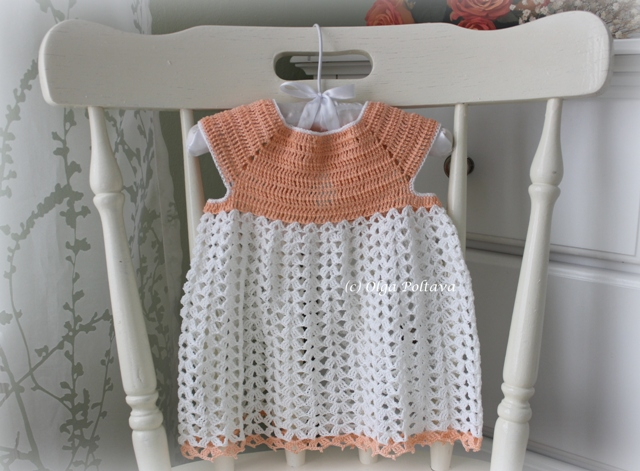 Crochet Stitches For Dresses : Lacy Crochet: Lacy Baby Dress, My New Crochet Pattern and Giveaway