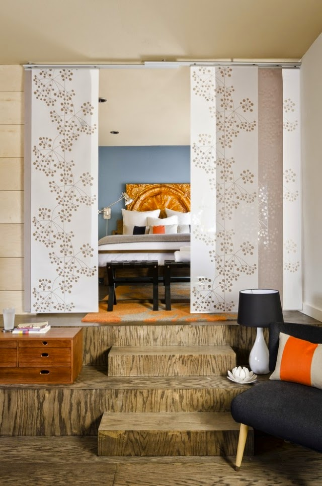 Room dividers for bedroom 26 ideas for the delimitation - Room divider curtain ideas ...