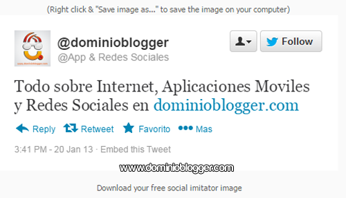 Crea mensajes falsos con Twitter Tweet Generator