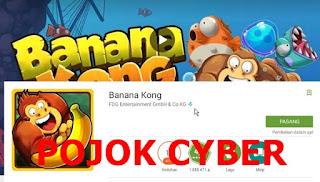 Tampilan Banana Kong pada Play Store