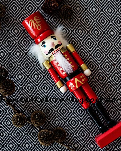 Nussknacker rot Weihnachtsdekoration Vintage