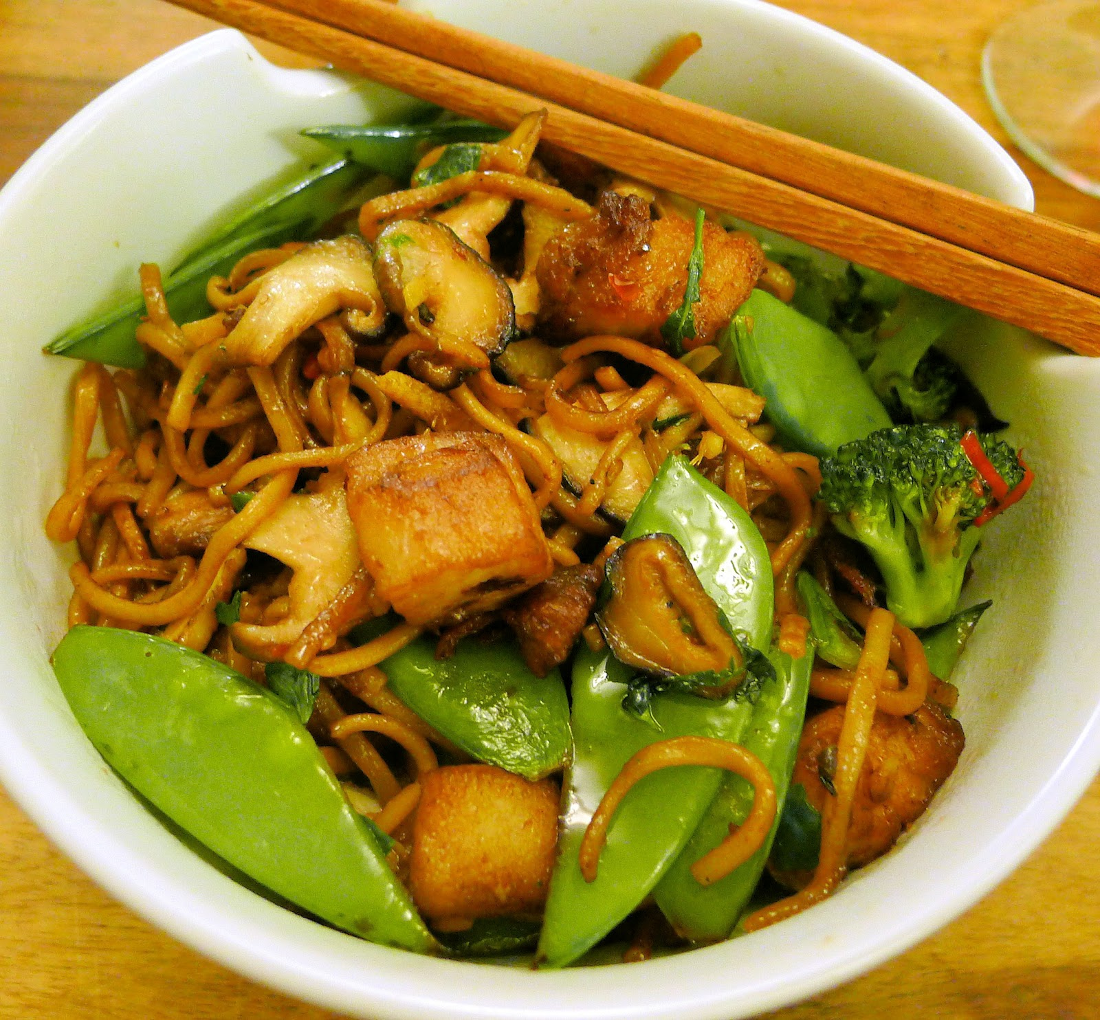 Culinary Adventures in London: Ginger Pork & Noodle Stir-fry