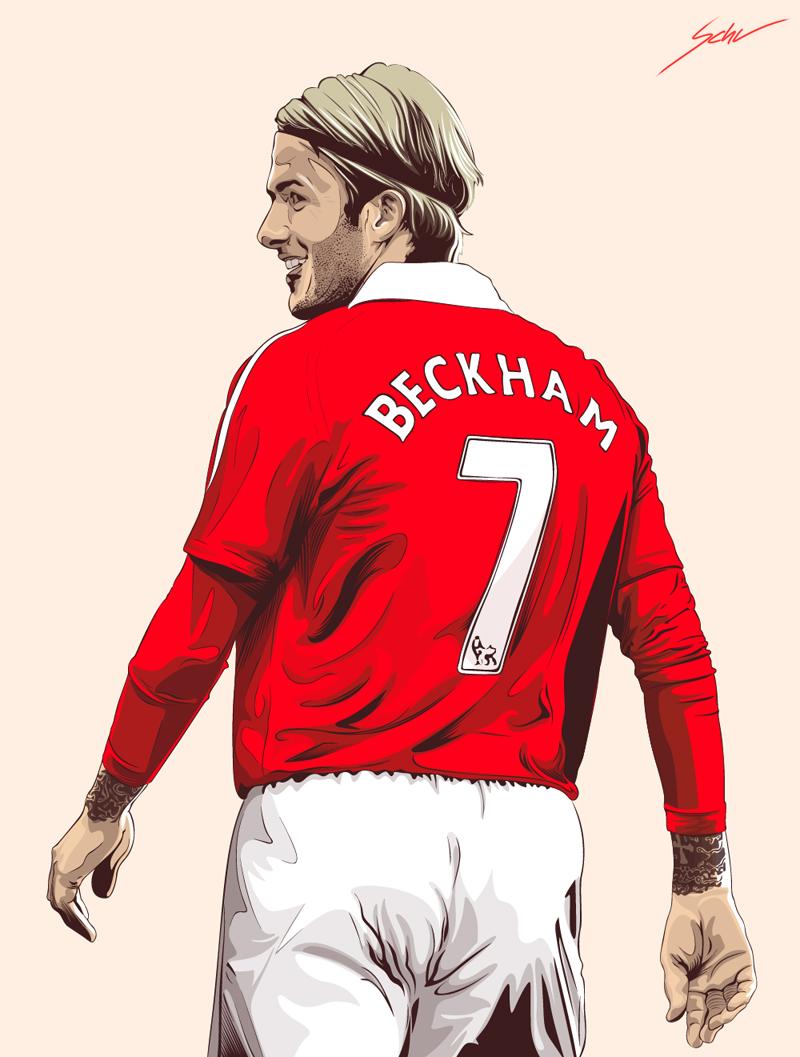 Cartoon pictures of david beckham - Manchester united david beckham wallpaper ...