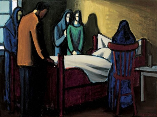 At the deathbed by Sámal Joensen-Mikines (1940)
