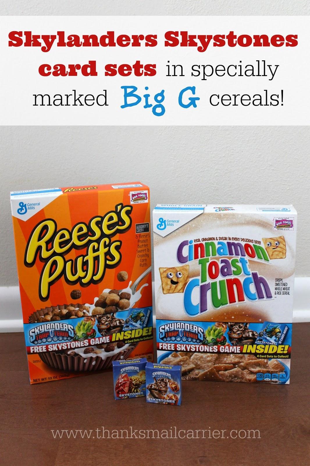 Skylanders Skystones Big G cereal